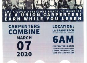 Carpenters Hiring Event