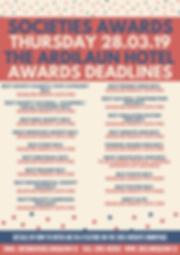 Deadlines Poster - Societies Awards 2019
