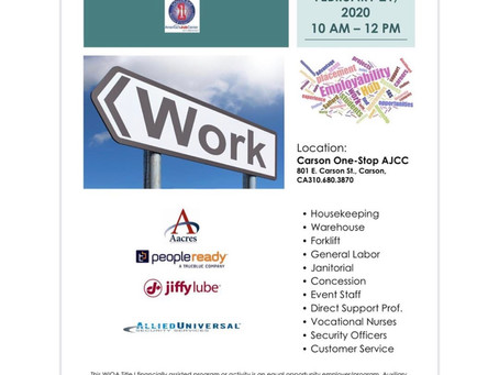 Mini Job Fair (Carson One Stop AJCC)