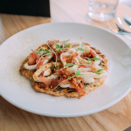 Destination Dining: The Calamari Pancake at Han