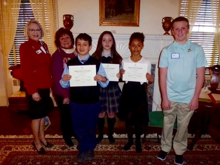 American History Essay Winners Honored at George Washington Tea Meeting