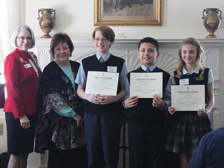 DAR American History Essay Contest Winners Honored