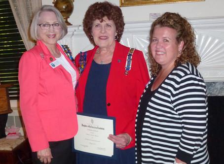 DAR Community Service Award Winner Honored