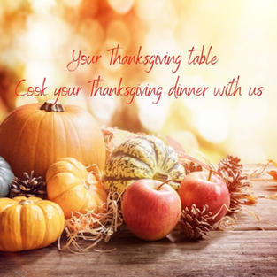 Your Thanksgiving table - November 25th - SOLD OUT