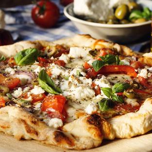 Greek Vegetarian Pizza - Janaury 07th
