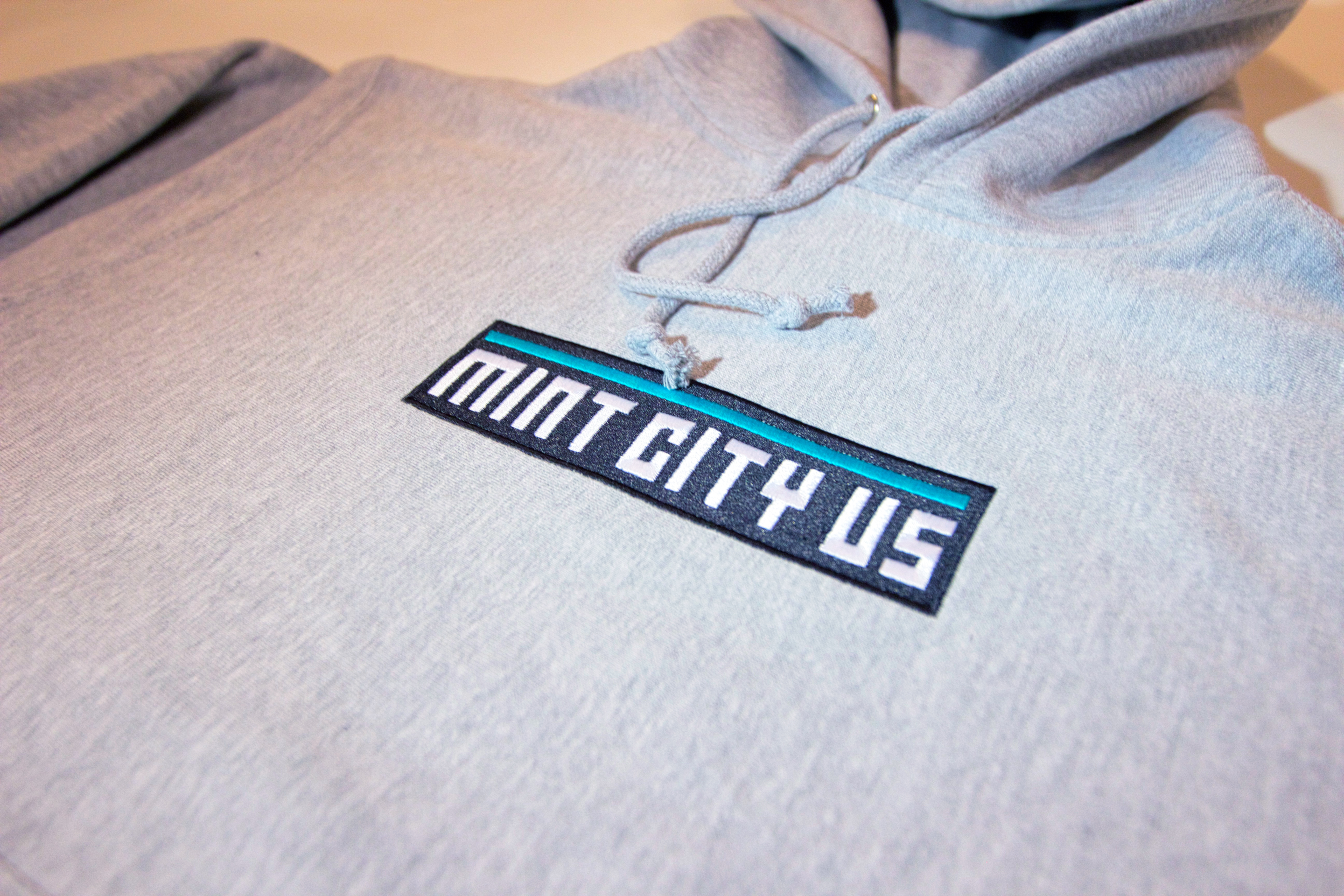 Mint City Box Logo Hoody In Ash
