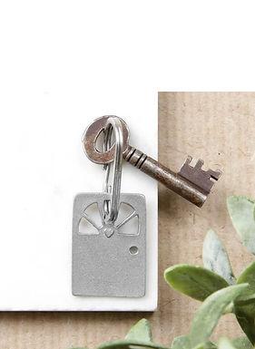 Heart Door Key Chain