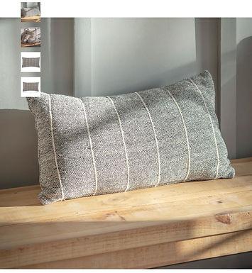 Grey Striped Cushion