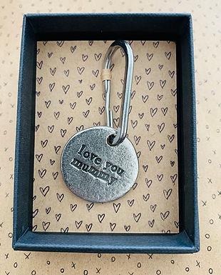 Love you Mummy keychain