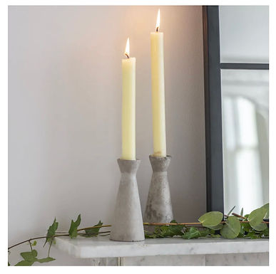 Set of 2 - Concrete Candle holders