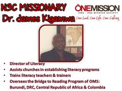 Dr. James Kigamwa