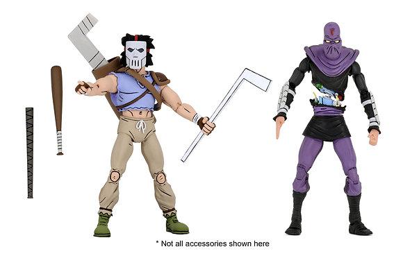 NECA TMNT Cartoon Series 3 Casey Jones & Foot Soldier 2 Pack