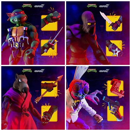 Super7 Teenage Mutant Ninja Turtles Ultimates Wave 1 Set of 4