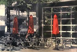 Angela Lacy - Red Umbrella - Watercolor
