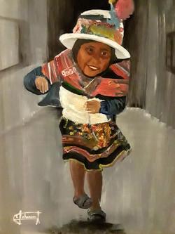 Edward Johanson- Peruvian Girl Dancing i
