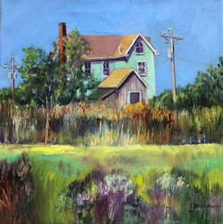 Ann Schaefer - Smith Island Greens - oil