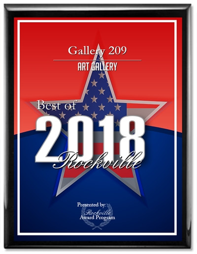 Gallery 209 recognized as 2018 Best of Rockville Art Gallery