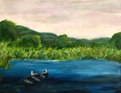 Jim Hoehn - Seagulls at Dusk - oil