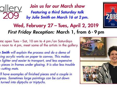 Julie Smith March 16 Acrylic Technique Demo