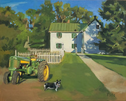 Patrick Sieg - Farmer's Helpers - Oil