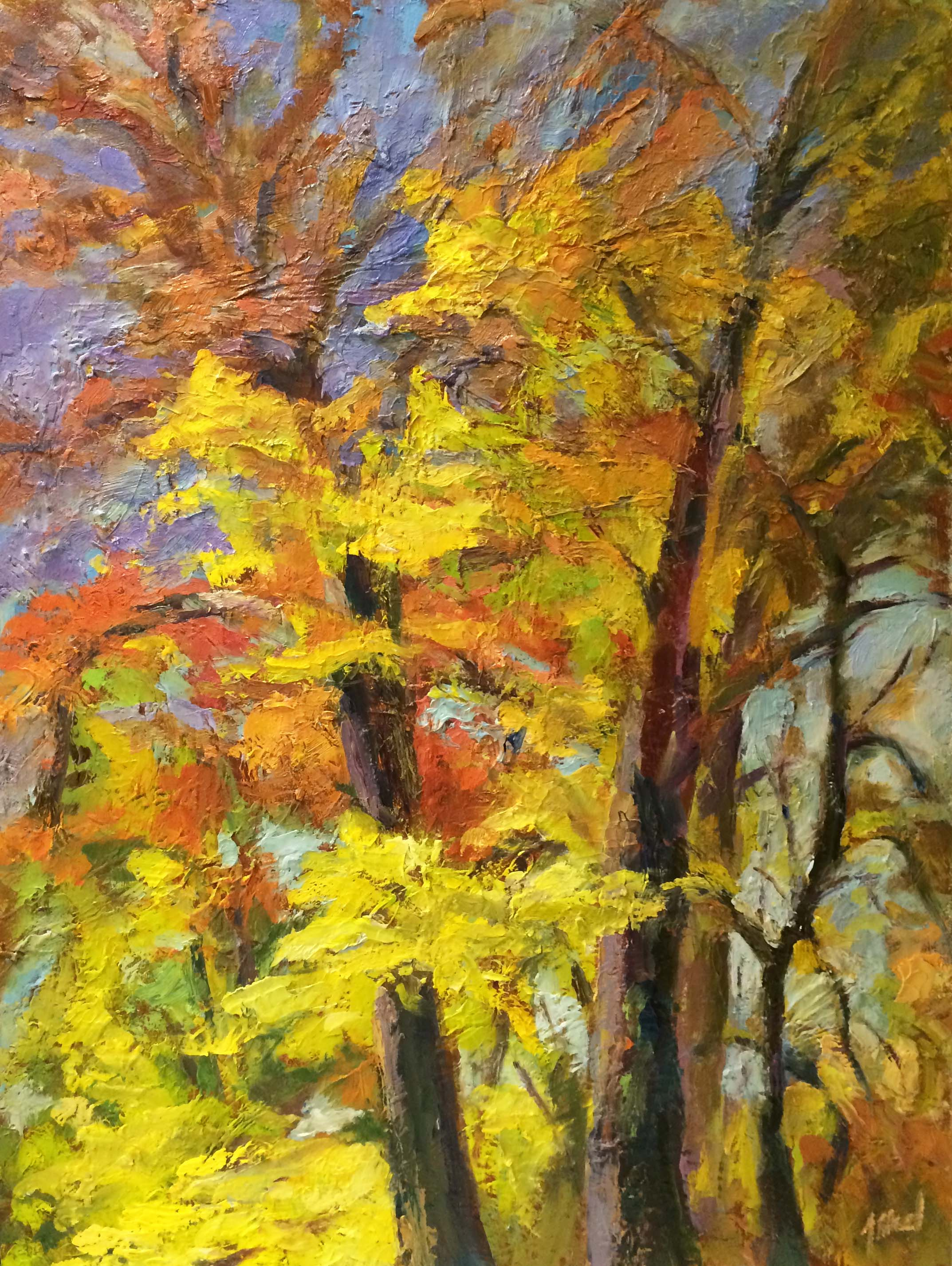 Jennifer Howard - Foliage Heights.18x24.