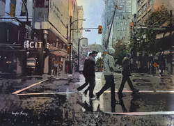 Angela Lacy - Rainy Day in Vancouver - Watercolor