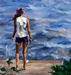Jennifer Beaudet - Girl Looking at Lake.
