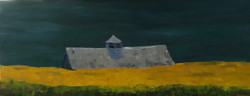 Jim Hoehn - Gray Barn at Night - oil