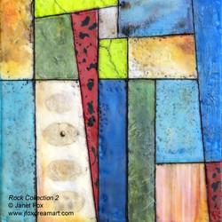 Janet Fox - Rock Collection 2 - Encaustic
