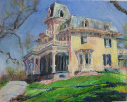 Jeanne Powell - Up the Hill - Oil