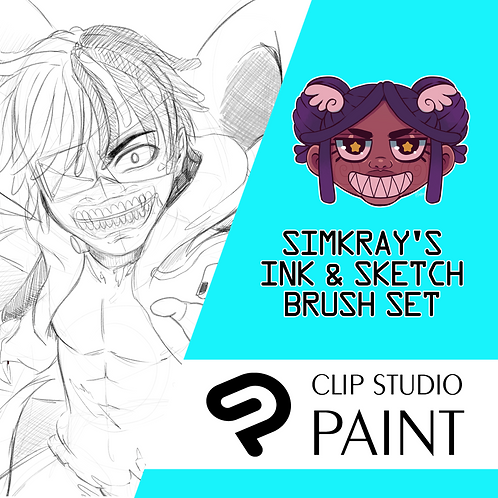 Simkray's 26 INK & SKETCH Brush set