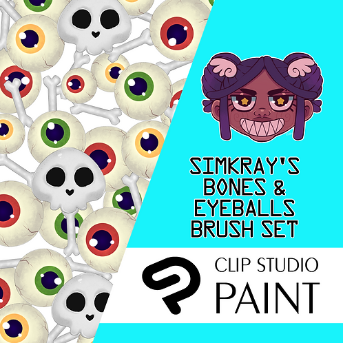 Simkray's 6 BONES & EYEBALLS Brush Set [CSP]