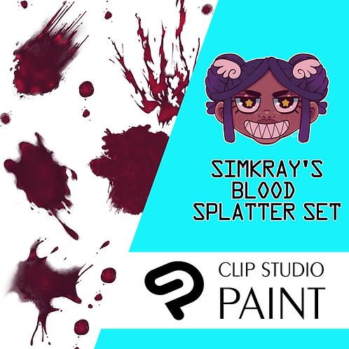 Simkray's 10 Blood Splatter Brush Set