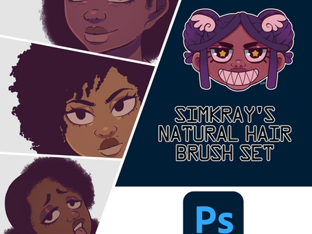 Natural Hair Brushes for Photoshop and Procreate Update.