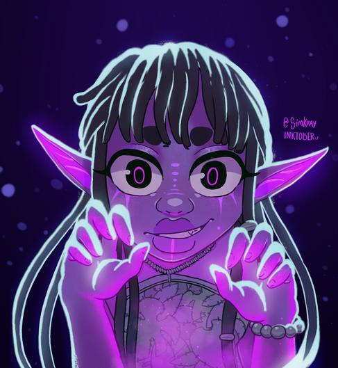 Inktober || 2 || Night Elf