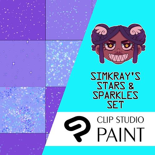 Simkray's 14 Stars and Sparkles Brush Set