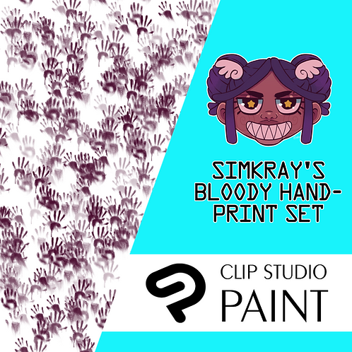 Simkray's 7 Bloody Handprint Brush Set