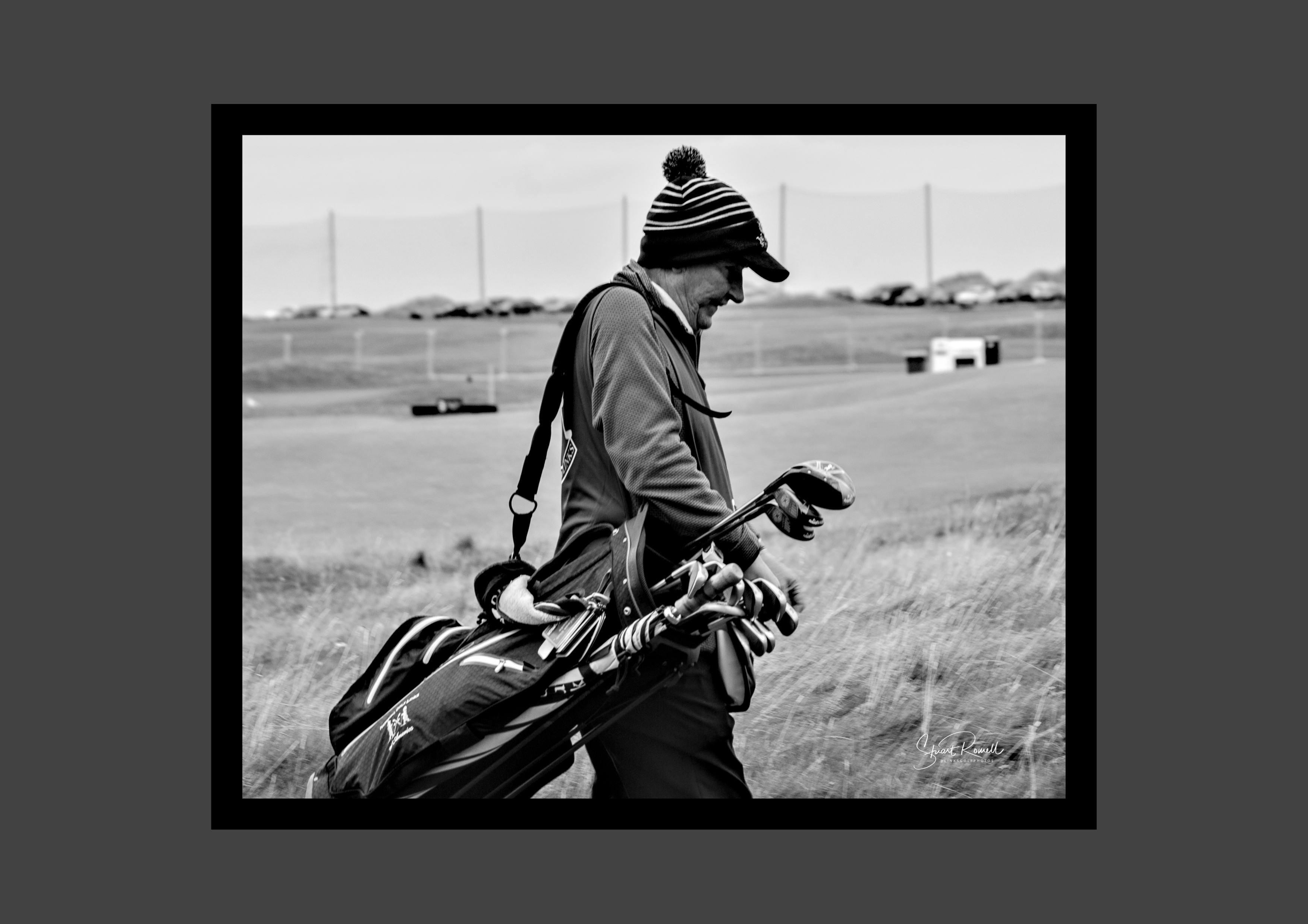 Black and white caddie