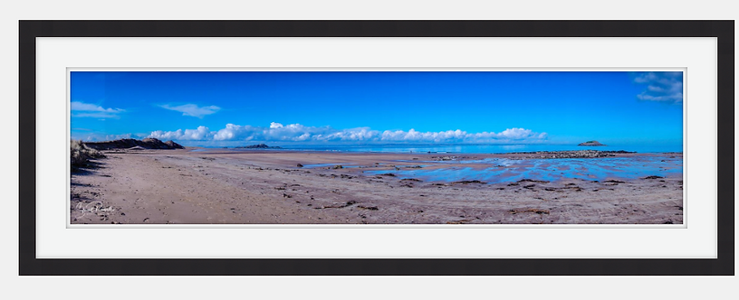 """Wide open spaces"" Widescreen shot of Yellowcraigs beach, East Lothian"