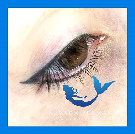 Thin Permanent Eyeliner Makeup With Wing