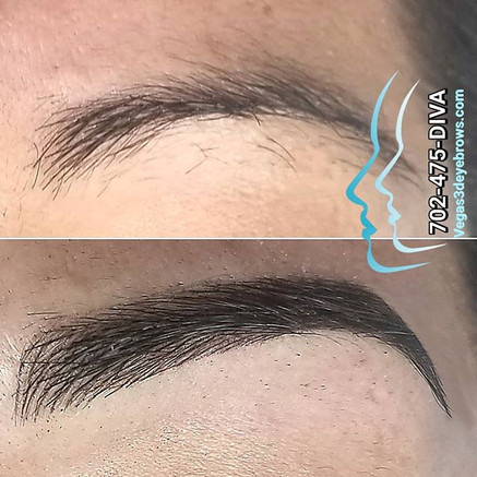 Conservative permanent 3d eyebrows