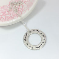 Personalised hand stamped necklace