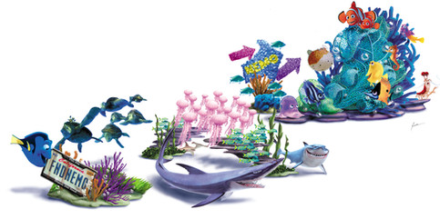 Finding Nemo Parade DESIGN/Concept art