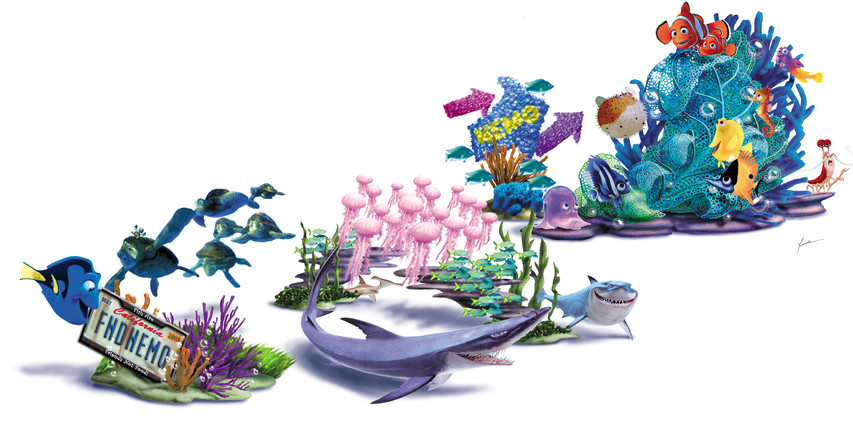 Finding Nemo Parade DESIGN/Concept art