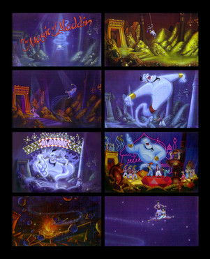 Aladdin live and 3D Concept Art