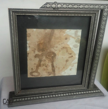 Key Deposit painting & Victorian picture frame