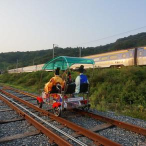 จักรยานรถไฟจอนจูฮันอก (Jeonju Hanok Rail Bike (전주한옥레일바이크))