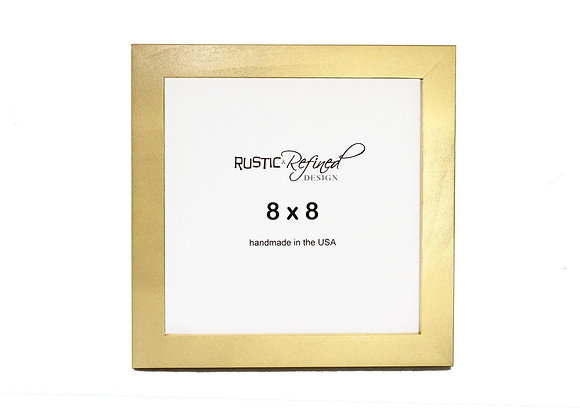 "8x8 1"" Gallery Picture Frame - Gold"