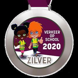 Digitale schoolpoortmedaille Zilver 2020