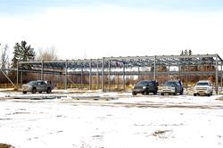 Southwest side of facility